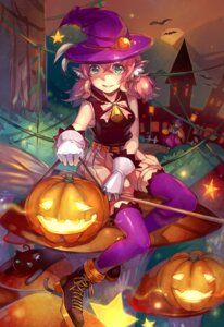 Rating: Safe Score: 24 Tags: animal_ears bloomers halloween neko shirajira_(artist) thighhighs witch User: Mr_GT