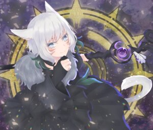 Rating: Safe Score: 13 Tags: animal_ears dress final_fantasy final_fantasy_xiv miqo'te tagme weapon y'shtola User: kail28391