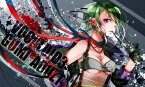 Rating: Safe Score: 9 Tags: cleavage gumi headphones nou vocaloid User: shizukane