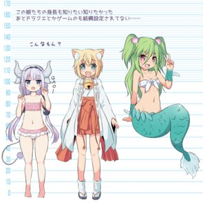 Rating: Questionable Score: 14 Tags: animal_ears bikini bikini_top cleavage crossover horns kanna_kamui kobayashi-san_chi_no_maid_dragon loli mermaid miko monster_girl muromi-san namiuchigiwa_no_muromi-san nekomimi nekono_rin swimsuits tail User: Nico-NicoO.M.