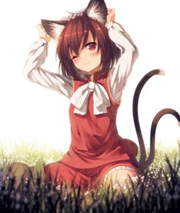 Rating: Safe Score: 71 Tags: animal_ears chen nekomimi notsugimi tail touhou User: Aneroph