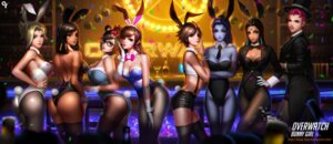 Rating: Safe Score: 92 Tags: animal_ears ass bunny_ears bunny_girl cleavage d.va fishnets liang_xing megane mei_(overwatch) mercy_(overwatch) no_bra nopan overwatch pantyhose pharah symmetra_(overwatch) tail thighhighs tracer widowmaker zarya User: Mr_GT