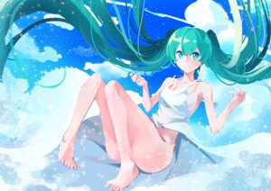 Rating: Questionable Score: 42 Tags: dress hatsune_miku marie_mushroom no_bra nopan summer_dress vocaloid User: Humanpinka