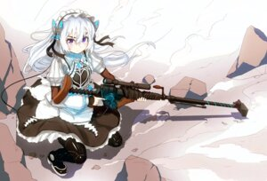 Rating: Safe Score: 39 Tags: chaika_trabant gun hitsugi_no_chaika maid nosuku thighhighs User: KazukiNanako