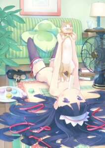 Rating: Questionable Score: 94 Tags: loli neko pantsu string_panties thighhighs topless waka_(artist) User: Mr_GT