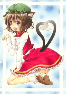 Rating: Safe Score: 9 Tags: animal_ears chen nekomimi shie touhou User: konstargirl