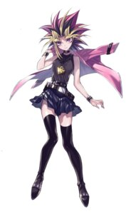 Rating: Safe Score: 23 Tags: genderswap maruchi thighhighs yami_yuugi yugioh User: Mr_GT
