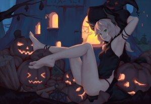 Rating: Safe Score: 41 Tags: bigrbear dress feet halloween pantsu witch User: BattlequeenYume