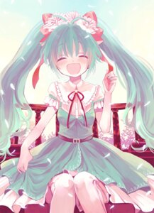 Rating: Safe Score: 29 Tags: amazawa_koma dress hatsune_miku lolita_fashion thighhighs vocaloid User: aihost