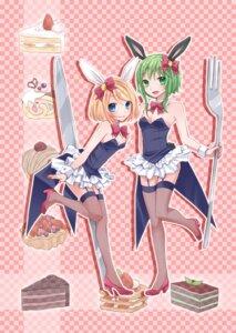 Rating: Safe Score: 21 Tags: animal_ears bunny_ears bunny_girl gumi kagamine_rin stockings thighhighs vocaloid yayoi User: Nekotsúh