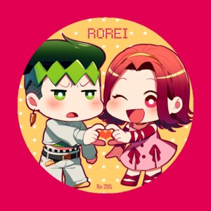 Rating: Safe Score: 5 Tags: chibi dress jojo's_bizarre_adventure kishibe_rohan rin2010 sugimoto_reimi User: charunetra