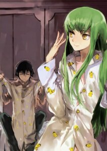 Rating: Safe Score: 16 Tags: c.c. code_geass lelouch_lamperouge pajama toi8 User: Radioactive