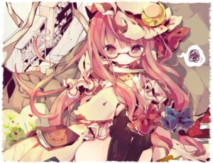 Rating: Safe Score: 25 Tags: ana megane patchouli_knowledge thighhighs touhou User: blooregardo