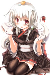 Rating: Safe Score: 35 Tags: ha_ru kimono thighhighs User: ddns001