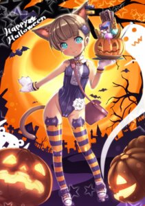 Rating: Questionable Score: 51 Tags: animal_ears cameltoe halloween jjjjjjj leotard loli nekomimi tail thighhighs User: Mr_GT