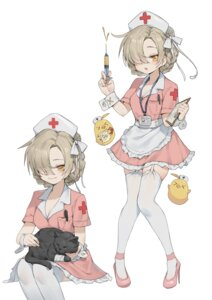 Rating: Safe Score: 21 Tags: azur_lane cleavage heels neko nurse romana sheffield_(azur_lane) stockings thighhighs User: Dreista