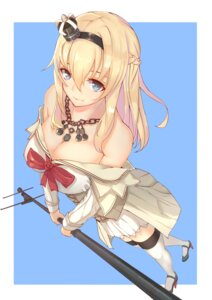 Rating: Safe Score: 40 Tags: cleavage dress foodtoys heels kantai_collection open_shirt thighhighs warspite_(kancolle) User: charunetra