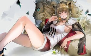 Rating: Safe Score: 17 Tags: 666_(ro_ro_ro3) animal_ears arknights cleavage siege_(arknights) User: BattlequeenYume
