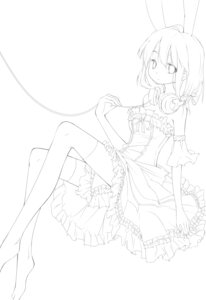 Rating: Safe Score: 5 Tags: animal_ears dress headphones jiong_tu line_art monochrome thighhighs User: charunetra