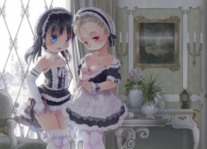 Rating: Questionable Score: 61 Tags: bra loli maid thighhighs undressing yuuro User: blooregardo
