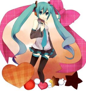 Rating: Safe Score: 15 Tags: hatsune_miku thighhighs vocaloid yuyupo User: blooregardo
