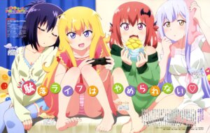 Rating: Questionable Score: 82 Tags: cleavage dress feet gabriel_dropout kurumizawa_satanichia_mcdowell pantsu shimapan shiraha_raphiel_ainsworth tenma_gabriel_white thighhighs tsukinose_vignette_april watanabe_mai User: drop