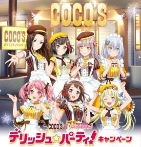 Rating: Safe Score: 10 Tags: bang_dream! kurata_mashiro maid maruyama_aya minato_yukina mitake_ran tagme toyama_kasumi tsurumaki_kokoro waitress User: saemonnokami