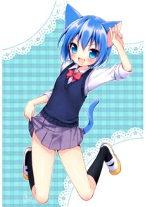 Rating: Safe Score: 21 Tags: animal_ears mani nekomimi onka seifuku tail User: fairyren
