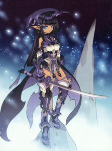 Rating: Questionable Score: 25 Tags: armor blade erect_nipples horns pointy_ears sword User: petopeto