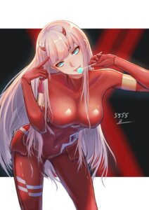 Rating: Safe Score: 53 Tags: bodysuit darling_in_the_franxx horns signed tagme zero_two_(darling_in_the_franxx) User: RyuZU