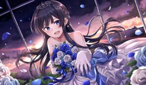 Rating: Safe Score: 28 Tags: black_rabbit dress mogami_shizuka the_idolm@ster the_idolm@ster_million_live! wedding_dress User: hiroimo2