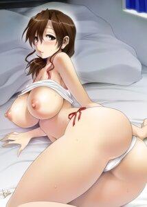 Rating: Questionable Score: 115 Tags: ass breasts mitarashi_kousei nipples no_bra pantsu shirt_lift string_panties User: Mr_GT