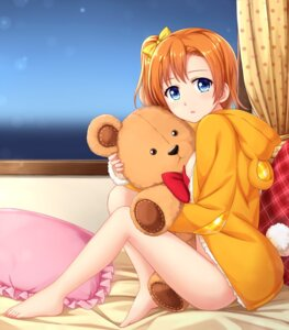 Rating: Questionable Score: 60 Tags: bottomless feet kousaka_honoka love_live! no_bra open_shirt tucana User: Mr_GT