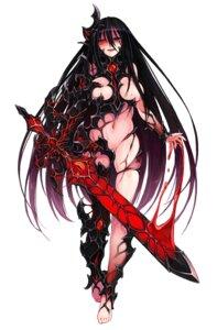 Rating: Questionable Score: 30 Tags: armor blood breasts kenkou_cross monster_girl no_bra sword User: NotRadioactiveHonest