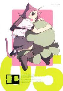 Rating: Safe Score: 13 Tags: animal_ears kanzaki_hiro nekomimi seifuku tail thighhighs User: Anonymous