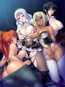 Rating: Explicit Score: 100 Tags: ass bikini_top bodysuit bra breasts business_suit cara_cromwell cara_the_blood_lord cleavage erect_nipples kagami kamimura_azuma lilith_soft malika_krishna megane nipple_slip nipples no_bra nopan open_shirt pantsu pantyhose pussy_juice see_through stockings thighhighs torn_clothes uehara_kitae undressing wet User: blooregardo