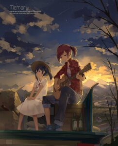 Rating: Safe Score: 32 Tags: dress guitar huanxiang_heitu love_live! nishikino_maki yazawa_nico User: Noodoll