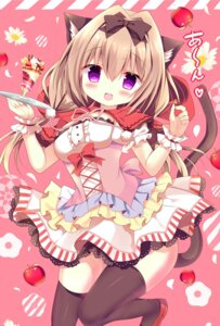 Rating: Safe Score: 55 Tags: animal_ears azumi_kazuki nekomimi tail thighhighs waitress User: fairyren
