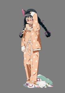 Rating: Safe Score: 40 Tags: akemi_homura animal_ears bakemonogatari hanekawa_tsubasa kyubey megane nekomimi nekomonogatari no_bra open_shirt pajama parody puella_magi_madoka_magica transparent_png User: tara