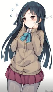 Rating: Safe Score: 75 Tags: hayashimo_(kancolle) kantai_collection kato_roku pantyhose seifuku sweater User: Mr_GT
