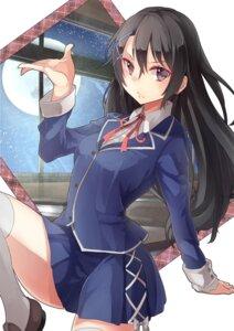 Rating: Safe Score: 55 Tags: mirai_shousetsu_arcana saraki seifuku thighhighs User: charunetra