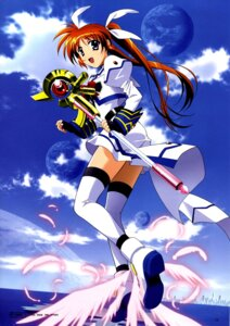 Rating: Safe Score: 14 Tags: dress mahou_shoujo_lyrical_nanoha mahou_shoujo_lyrical_nanoha_strikers okuda_yasuhiro takamachi_nanoha thighhighs wings User: ttfn