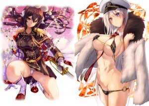 Rating: Questionable Score: 51 Tags: armadillo azur_lane bikini enterprise_(azur_lane) horns mikasa_(azur_lane) pantsu panty_pull renji swimsuits sword uniform User: Twinsenzw