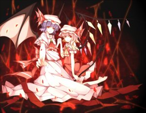 Rating: Safe Score: 8 Tags: flandre_scarlet noirly remilia_scarlet touhou User: Radioactive