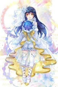Rating: Safe Score: 32 Tags: bloomers dress ekita_gen heels love_live! sonoda_umi thighhighs wedding_dress User: KazukiNanako