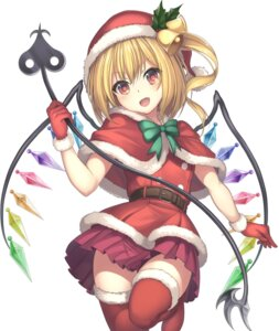Rating: Safe Score: 13 Tags: christmas flandre_scarlet janne_cherry skirt_lift thighhighs touhou wings User: yanis