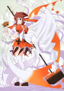 Rating: Safe Score: 7 Tags: achunchun greenwood mikan thighhighs User: midzki