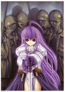 Rating: Safe Score: 8 Tags: armor aselia_bluespirit dress eien_no_aselia hitomaru sword xuse User: hirotn