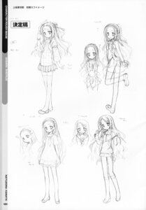 Rating: Safe Score: 5 Tags: kobuichi monochrome muririn natsuzora_kanata shichijou_sasara sketch yuzu-soft User: milumon