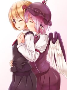 Rating: Safe Score: 23 Tags: animal_ears mystia_lorelei pokio rumia touhou wings User: Mr_GT